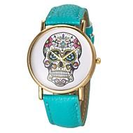 tanie Modne zegarki-Damskie Modny Kwarcowy PU Pasmo Lebky Czarny Biały Niebieski Czerwony Brązowy Zielnony żółty Rose