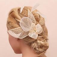 Damen Blumenmädchen Feder Tüll Kopfschmuck-Hochzeit Besondere Anlässe im Freien Blumen