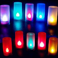 abordables LED e Iluminación-forma de vela colorida abs de la llama llevó la luz de la noche para el festival de halloween