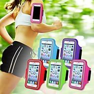 お買い得  携帯電話ケース-ケース 用途 iPhone 5 ユニバーサル ウィンドウ付き 腕章 アームバンド 純色 ソフト 繊維 のために iPhone SE/5s
