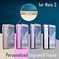 Недорогие Чехлы и кейсы для Galaxy Note-Бампер металлический с именной гравировкой для Samsung Galaxy Note 3 N9000