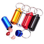 Outdoor Alloy Waterproof Portable Mini First-aid Pills Box(Random Color)
