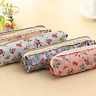 billige Kontorartikler-Calico pen taske (tilfældig farve)