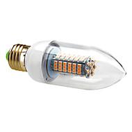 お買い得  LED キャンドルライト-7W E26/E27 LEDキャンドルライト C35 120 SMD 3528 630 lm 温白色 / クールホワイト 交流220から240 V