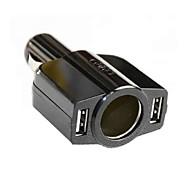 billige -Bil Oplader Telefon USB oplader Multiporte 2 USB-porte DC 12V-24V til iPad Til mobiltelefon