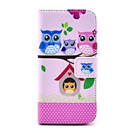 halpa -KOKO FUN ® Lovely Owl sukumalli PU Leather Full Body Case Screen Protector, Stylus ja teline iPhone 5C