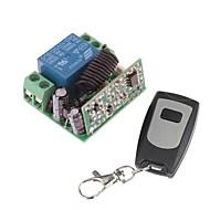12V 1-kanaals draadloze afstandsbediening Vermogensrelaismodule met afstandsbediening (DC28V-AC250V)