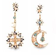 お買い得  -女性用 ドロップイヤリング  -  イミテーションダイヤモンド MOON オリジナル, ぜいたく, 欧風 ゴールデン 用途 結婚式 パーティー 日常