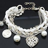 preiswerte -Damen Bettelarmbänder - Armbänder Schwarz / Rosa / Kamel Für Hochzeit Party Alltag