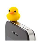 preiswerte -Joyland Cartoon-Ente Mutter Gummi Anti-Staub-Kopfhöreranschluss