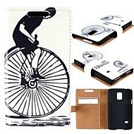 Для Кейс для  Samsung Galaxy Кошелек / Бумажник для карт / со стендом / Флип / С узором Кейс для Чехол Кейс для Черный и белый