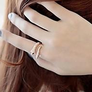 preiswerte -Damen Krystall / Aleación Statement-Ring - Modisch Silber / Golden Ring Für Hochzeit / Party / Alltag