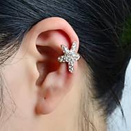 voordelige -Dames Oor manchetten Ster Zeester Dames Luxe Strass Gesimuleerde diamant oorbellen Sieraden Zilver Voor Bruiloft Feest Dagelijks Causaal Sport