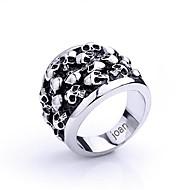 personlig gave fashionable kraniet formet rustfrit stål smykker indgraveret mænds ring