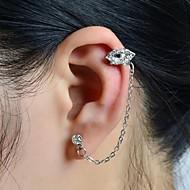 voordelige -Dames Oor manchetten Lippen Dames Luxe Strass Gesimuleerde diamant oorbellen Sieraden Voor Bruiloft Feest Dagelijks Causaal Sport