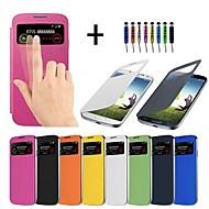 tanie Galaxy S4 Etui / Pokrowce-Ekran widoczny case full body dla Samsung Galaxy S4 i9500