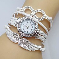 Women's Watch Crystal Wing Infinity Leather Strap Watch Weave Band Cool Watches Unique Watches Fashion Watch