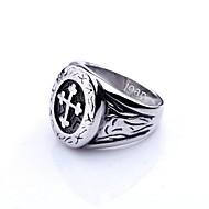 voordelige Gepersonaliseerde kledingaccessoires-gepersonaliseerde gift trendy roestvrij stalen sieraden gegraveerd mannen ring