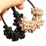 Korean Hand-woven Beaded Pearl Hair Ties Accessories