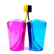 multifunktionel slik farve tandbørste kop og tandbørste rack (tilfældig farve)