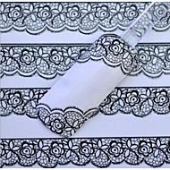 olcso -fehér csipke köröm matrica