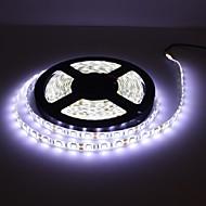 abordables Tiras de Luces LED-5m impermeable 300x5050 SMD blanco llevó la lámpara de la tira con el cable serie dimmer (12v)