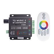 abordables Interruptores  y Enchufes-6a de 3 canales de música de tq rf rgb llevó el regulador de audio con control remoto multifunción para rgb llevó la lámpara de la tira (cc 12-24)