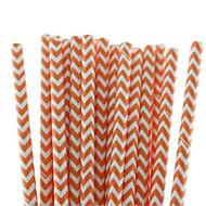 abordables Gadgets para Casa y Despacho-pajitas de papel del chevron precioso respetuoso del medio ambiente pajitas de beber de papel de 18 colores para la fiesta de halloween (25 piezas)