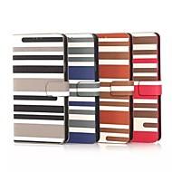 Na Samsung Galaxy Note Etui na karty / Z podpórką / Flip / Wzór Kılıf Futerał Kılıf Linie / fale Skóra PU Samsung Note 4