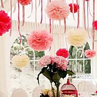 billige -8 tommers papir blomst party dekorasjoner - sett med 4 (flere farger)