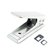 Standard Sim to Nano Sim Card Punch Cutter with Two Micro to Nano Adapter for iPhone 5s 5 5c IPad Mini