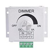abordables Interruptores  y Enchufes-8a aluminio de aleación de 1 canal dimmer giratorio para la lámpara de la tira llevada (dc 12v-24v)