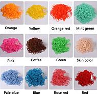 baoguang®300pcs mode weefgetouw rubberen band (1Package s clip, diverse kleuren)