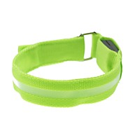 LED Light Screen Arm Band Strap Armband Green (2xCR2032)