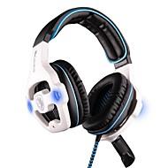Sades sa-903 auriculares usb sobre el oído estéreo multifuncional con micrófono para el ordenador