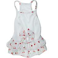 abordables Famille & Animaux-Chat Chien Robe Vêtements pour Chien Fruit Nœud papillon Blanc Coton Costume Pour les animaux domestiques Mariage
