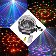 18W RGB LED MP3 Stage Crystal Magic Ball Light EU(AC100-240V)