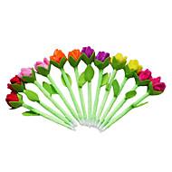 6PCS New Beauty Plush Tulip Flower Pens