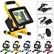 abordables Lámparas Portátiles-10W Focos LED 1 LED de Alta Potencia 1000 lm Blanco Cálido Recargable AC 100-240 V