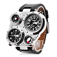 Personalized Fashionable Men's Watch Military Multifunction Dual Time Zones Compass and Thermometer