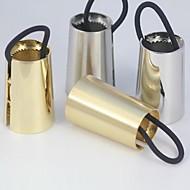 z&x® europäischen Stil vertraglich konische Haargummi (2 Farben Optionen: golden, silbern)