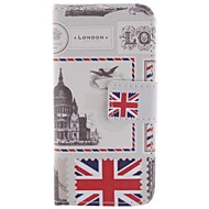 Для Кейс для  Samsung Galaxy Бумажник для карт / со стендом / Флип / С узором Кейс для Чехол Кейс для Панорама города Искусственная кожа