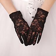 До запястья С открытыми подушечками пальцев Перчатка Кружева Свадебные перчатки Вечерние перчатки