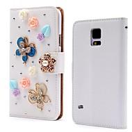 Для Samsung Galaxy Note Бумажник для карт / Стразы / со стендом / Флип / С узором Кейс для Чехол Кейс для 3D в мультяшном стиле