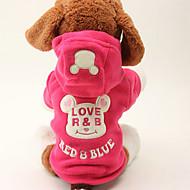 Koira Hupparit Koiran vaatteet Sievä Pidä Lämmin Piirretty Musta Ruusu