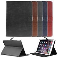 billige -Etui Til iPad Air 2 med stativ Autodvale / aktivasjon Magnetisk Heldekkende etui Helfarge PU Leather til iPad Air 2