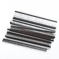 1 x 40 pinos cabeçalhos 2,54 milímetros arremesso pin única linha ângulo direito PCB (20pcs)