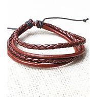 z&x® vintage tibetischen Fachschichten Männer Lederarmbänder (1pc, 3 Farben Optionen: schwarz, Kaffee, schwarz und weiß)