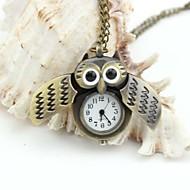 bolsillo búho cordones metálicos esmalte reloj personalizado