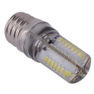 E17 LED-lampa T 64 lysdioder SMD 3014 Kallvit 300lm 6000-6500K AC 110-130V